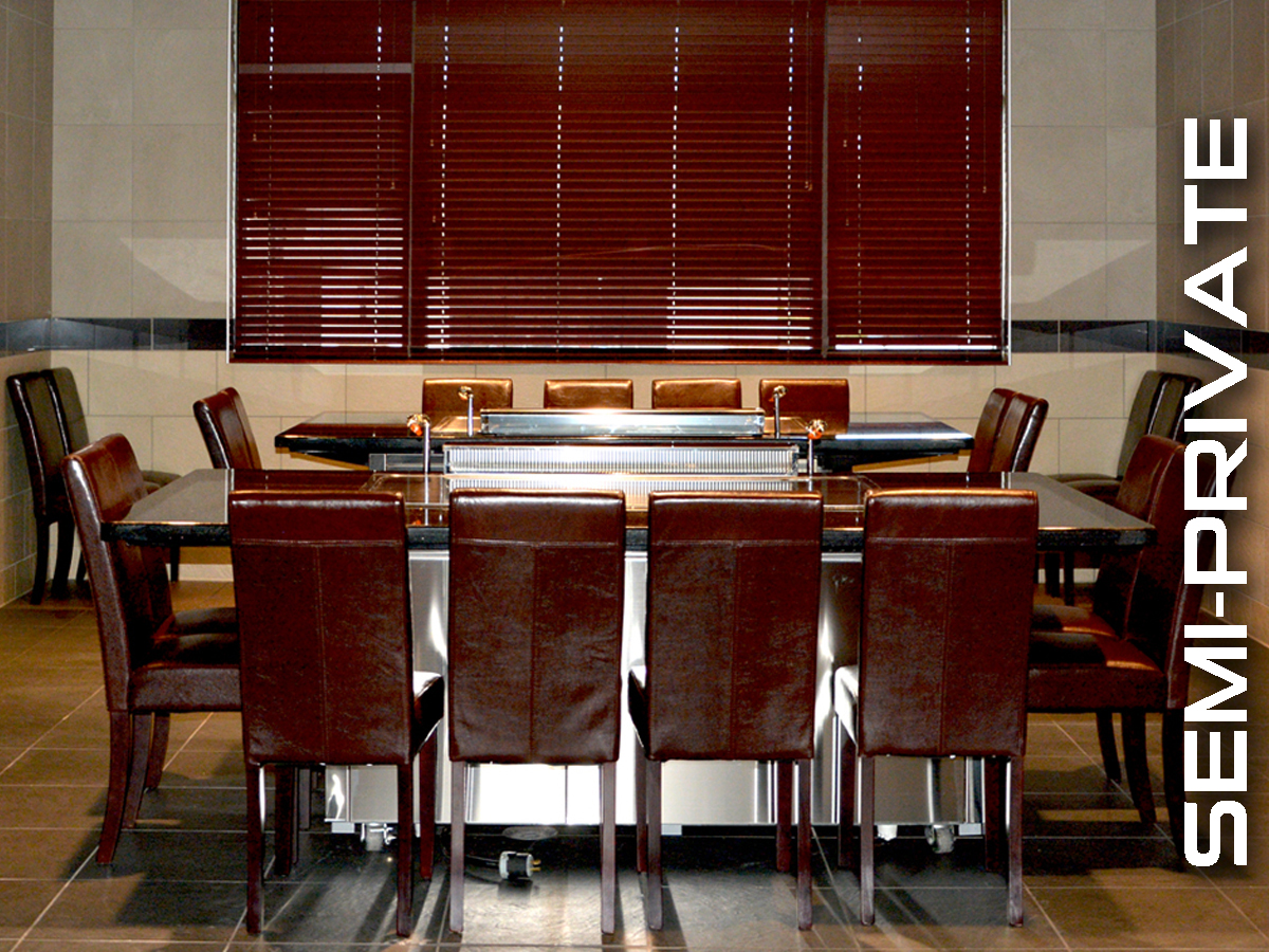 Enterain up to 20 in semi-private dining room