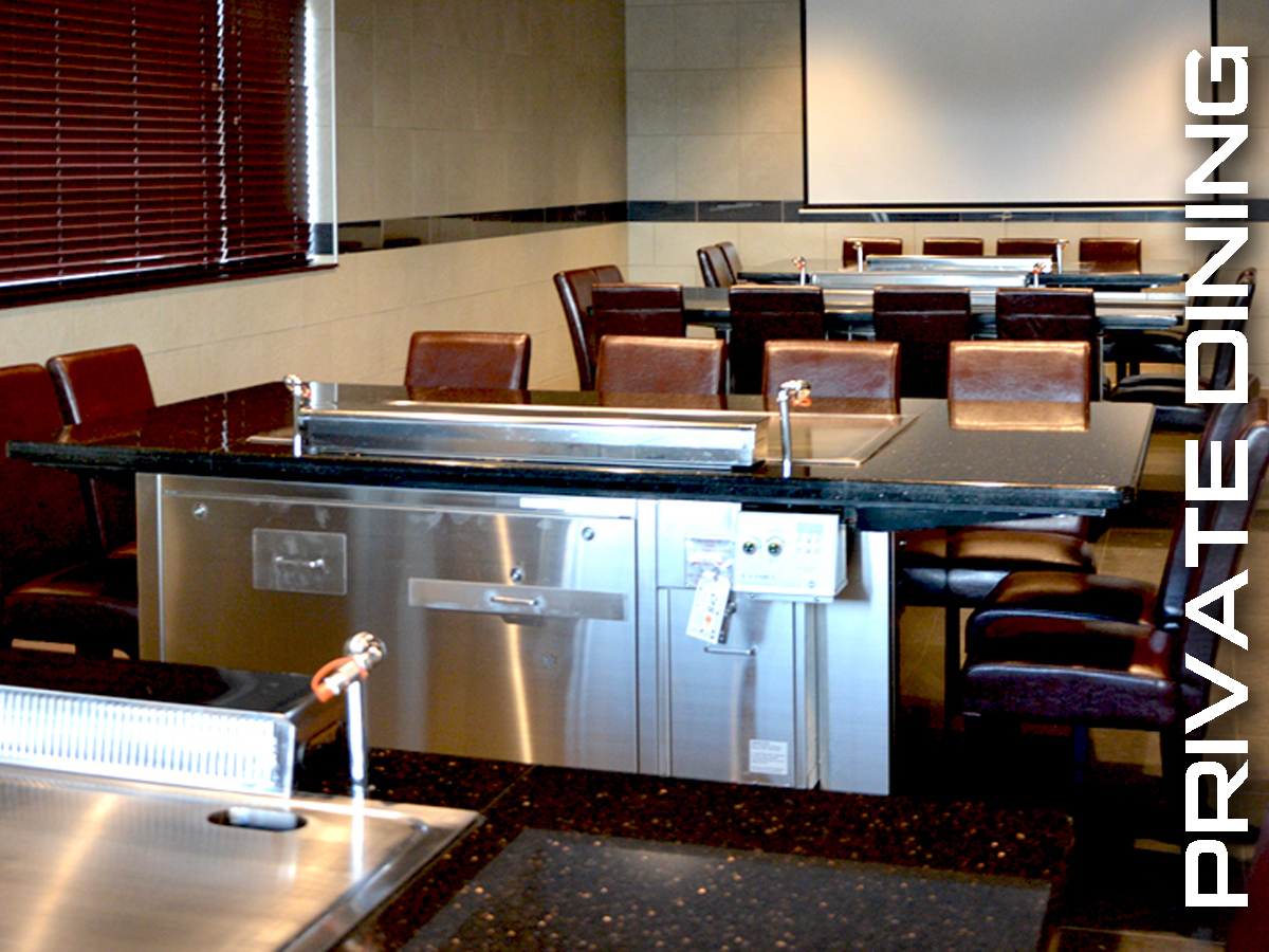 Entertain parties up to 40 in private room at UMI Japanese steakhouse